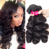 Wholesale brown straight remy hair weave resale online - 8A Remy Peruivan Malaysian Indian Brazilian Hair Bundles Unprocessed Straight Body Wave Loose Wave Hair Weave Human Hair Extensions