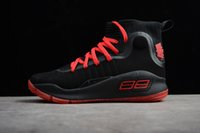 Wholesale Fun Fall - New More fun more rings Stephen curry 4 IV Basketball Shoes Stephen 4s Black white Championship men Gold Training Sports Sneakers