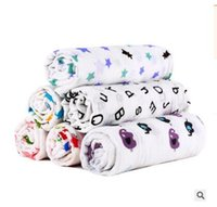 Wholesale muslin swaddling blankets wholesale - Newborns Fox Blanket Cotton Flamingo Wrap Stroller Cover Play Mat Cartoon Muslin Baby Blankets Bedding Infant Swaddle Towel Swaddle Blanket