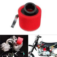 filtro de ar vermelho venda por atacado-Alta Qualidade RED 38mm Dobrado Ângulo de Entrada de Ar Do Filtro De Ar de Espuma para a Motocicleta ATV Novo 2018