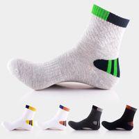 Wholesale sweat socks men - Fashion Sports Socks Breathable Sweat Absorbing Deodorant Outdoor Running Basketball High Socks For Men Support FBA Drop Shipping G513S