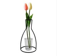 ingrosso artigianato della decorazione del vaso-Globe Fairy Miniature Garden Ornaments Ferro Art Craft Semplice balcone Flower Pot Stand Vintage Home Garden Decorazione Accessori