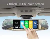 Wholesale free screen recorders resale online - 7 Inch Touch Screen Dedicated Car DVR Rearview Mirror dual lens Registrator Dash Camera Cam Video Recorder DVRS