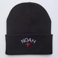 chapeau nyc cap achat en gros de-NOAH NYC Beanie hiver broderie chapeaux pour les femmes hommes bonnet hip hop garçons filles dames crâne en cachemire harajuku punk rue chaude en plein air