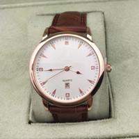 Wholesale gold watch brown leather strap - 2018 New Sports Watches Leather Strap Luxury Brand Mens Watches WristWatches Calendar Quartz Busuness Men Watch