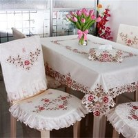 Wholesale home decor tv for sale - Classic Embroidery Table Cloths Home Decor Fashion TV Cover Hollow Out Household Dining Tablecloth Printing Hot Sale tf4 Ww