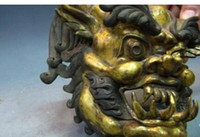 tibetmaske groihandel-8 Tibet 100% Pure Copper Bronze 24K Gild Gold Bull Demon King mask Buddha Statue 8.02