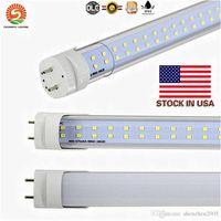 4ft 28w leuchtstoffröhre großhandel-US-Lager Bi-Pin T8 LED-Röhren Licht 28W Doppelreihen SMD2835 4FT 1200mm LED-Leuchtstoffröhre Lampe kaltweiß AC85-265V 22W einreihig