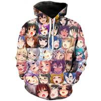 blusas femininas sexy venda por atacado-Nova Moda Tendência Casais Homens Mulheres Unisex Anime Sexy Girl Impressão 3D Novidade Legal Hoodies Camisola Camisola Pulôver Top S-5XL