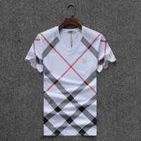 Wholesale French Letters - 2018 New Luxury Mon Brand Mens T-Shirt Summer T Shirt British French Style Short Sleeves Men's Tee Hommes Chemise #1805
