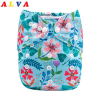 Wholesale diaper snaps for sale - Group buy New Arrival Alvababy Reusable Diaper Double Row Snaps Cloth Diapers Baby