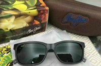 Wholesale super sun glasses - New arrived maui jim 284 sunglasses Polarized lens sun glasses men women sports mj 284 super rimless Aviator driving with original case
