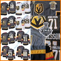 Wholesale Final Gold - 2018 Stanley Cup Final Patch Golden Knights Jersey Marc-Andre Fleury James Neal Erik Haula David Perron William Karlsson Nate Schmidt