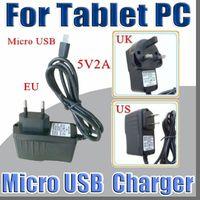 tablette genannt großhandel-Micro USB 5V 2A Ladegerät Konverter Netzteil US EU UK Stecker AC Für 7