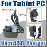 5v 2a ac adaptör uk toptan satış-Mikro USB 5 V 2A Şarj Dönüştürücü Güç Adaptörü ABD AB İNGILTERE tak AC Için 7