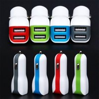 Wholesale Car Duck - 2018 Duck mouth Micro Auto dual USB Port 5V 2.1A car charger adapter for iPhone samsung mobile colorful