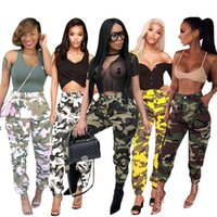 Wholesale sexy yoga pants workout online - New Sports Leggings Yoga Pants Camouflage Style Women Sexy Hip Push Up Pants Fitness Workout Gym Jogging Trousers