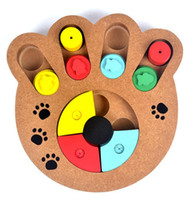 Wholesale safety toy for sale - 2018 Multifunction Pet Bowl Feeder Holes Dog Paw Educational Toys Puppy Puzzle Toys Safety Plastic Dog Toy