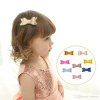 Wholesale large boutique bows - Baby Leather hairpin Bow Clips Girls Large Bowknot Barrette 8 colors Kids Hair Boutique Bows Children Hair Accessories KFJ213