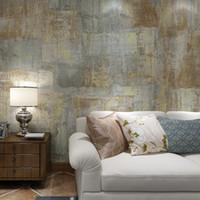 tapetenrollenstreifen großhandel-Mediterrane Streifen Vintage Viny Tapete Papel De Parede 3D Moderne Wohnzimmer Kunst Tapeten für Hintergrund Wand Home Decor
