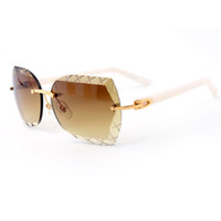 Wholesale metal brand plate - High Quality Plate Legs Sunglasses Brand Designer Sunglasses Fashion Mens Luxury Metal Frame Glasses Classic Sunglasses for Men With Box