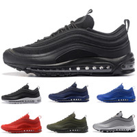 Wholesale euro shoes - Summer Silver Bullet s OG QS Triple Black White blue red green Men s Running Shoes sport air Sneaker for men Euro size