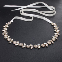 Wholesale hand accessories for girls - luxury Wedding Sashes Bridal Belt 2018 fashion Rhinestone adornment For Wedding Prom Party Evening Dress accessories Belt 100% hand-made