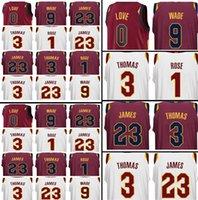 Wholesale Love Jerseys - Men's CLEVELAND 2017-2018 New 23 LeBron James Jersey 0 Kevin Love 9 Dwyane Wade 3 Isiah Thomas 1 Derrick Rose stitched Jerseys