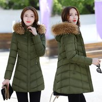 Wholesale Get Thin - Han edition cultivate one's morality new winter cotton-padded jacket increased heavy hair get upset cotton-padded clothes female in long win