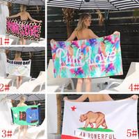cobertores de ioga algodão venda por atacado-Algodão macio toalha de praia de secagem rápida ao ar livre esportes de natação banho de acampamento yoga mat cobertor toalhas de banho cadeira de praia capa wx9-522