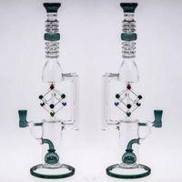 ingrosso grande globo-2018 New Big Glass bong Giunto 14.4mm Globe Percolato Tubo per acqua in vetro con Rotary Cube Recycler Oil Rigs 35cm Tall Water Bubber