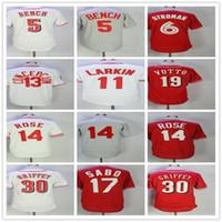 Wholesale red barry online - Men s Johnny Bench Billy Hamilton Barry Larkin Pete Rose Joey Votto Ken Griffey Jr Chri Sabo Baseball Jerseys