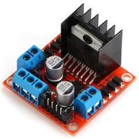 controlador arduino al por mayor-L298N Dual H Bridge DC Stepper Motor Drive Controller Board Module para Arduino o para Robot Smart Car