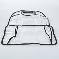 Wholesale transparent storage organizers for sale - Group buy 1PCS PVC Transparent Auto Car Seat Organizer Back Seat Bag Container Car Storage Multi Pocket Travel Bag Anti dirty Pad