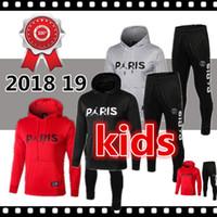 neuer pullover für kinder großhandel-AJ Logo-Pullover für Kinder mit Hoodie 18/19 PSG Casual Pullover 2019 Paris Saint-Germain Weiß Pullover Schwarzer Hoodie-Mantel On Sales