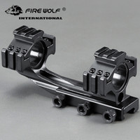 Wholesale side mounted scope mount rail for sale - Group buy 25 mm mm Ring Tri Side Mount Cantilever Double Ring See through Scope Sight Fixture Fit mm Rail Hunting