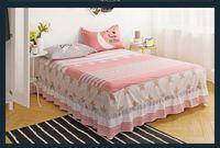 ropa de cama rosa gris reina al por mayor-Colcha gris rosada Maress cubierta twin full queen size 1 unids cama falda con cubierta de cama elástica Bed Skirt ropa de cama textiles para el hogar