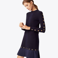 design intemporel 0a210 d22c5 Vente en gros Robes Tricotées À Laine Manches Longues 2018 ...