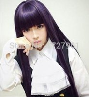 Wholesale inu x boku ss cosplay for sale - cm Anime Inu x Boku SS Ririchiyo Shirakiin Cosplay Synthetic Long Purple Wig