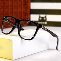 markenname gläser für großhandel-Männer Frauen Mode Auf Rahmen Name Marke Designer Plain Gläser Optische Brillen Myopie Brillen Rahmen Oculos H399