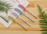 Discount pen comb - Wholesale gel pens free shipping Cartoon comb modeling black water signature pen students netural pens gifts GP384