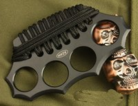 hierro de nudillo al por mayor-Pulverizadores de nudillos de latón AZAN de alta calidad, cuatro dedos de hierro, acero integrado formando herramientas EDC Envío gratis