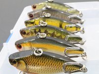 Wholesale Sinking Lures - wLure 6 per Pack Fishing Lure Lipless Trap Crankbait Hard Bait Sinking 9.4g 5.7cm Bass Crappie Minnow HL540KB