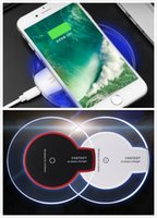 Wholesale High Efficiency - Qi Wireless Charger Fast Charging For iphone 8 X Samsung S8 Fantasy High Efficiency Pad with Retail Package By DHL Free Shipping