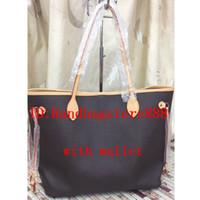 sacs à main designer plaid achat en gros de-2pcs / set haute qualité classique sacs à main designer femmes fleur dames composite tote PU sacs à bandoulière en cuir embrayage sac à main féminin avec portefeuille