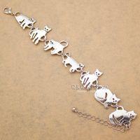 Wholesale Dropshipping Bracelet - whole saleBastet Cat Kitten Pet Charm Chain Link Bracelets for Women Bangles Gift Party Indian Jewelry Pulseira Feminina Dropshipping
