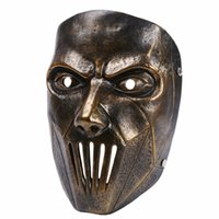 Wholesale slipknot masks resale online - Cosplay Party Male Joey Resin Scary Masks Silver Mask Costume Slipknot Mask Halloween Masquerade Masks Hxfap