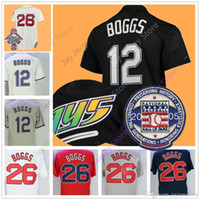 Wholesale tampa baseball - Wade Boggs Jersey with 2005 Hall Of Fame Patch Cooperstown Tampa Bay Boston Jerseys Home Away Vintage