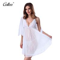 ücretsiz iç çamaşırı artı toptan satış-COLLEER Marka Kadınlar Sexy Lingerie Korse ile G-string 2 Adet Set Elbise İç pijamalar Artı boyutu XXL Ücretsiz Dropshi nakliye