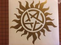 altın film etiketi toptan satış-Supernatural Anti-Possession GOLD Serisi için araba styling Vinil Sticker Çıkartma Araba Dizüstü iPhone